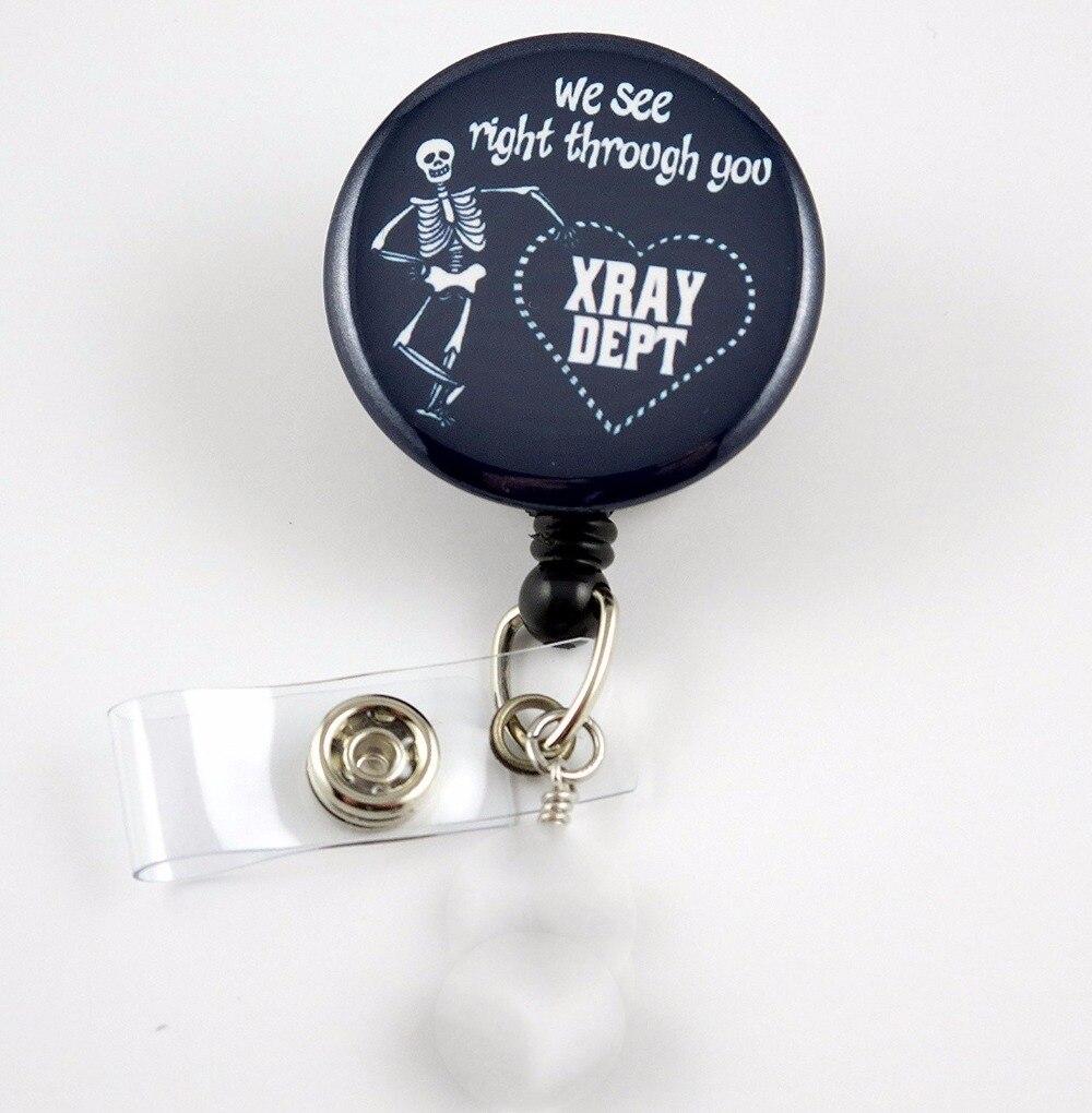 X Ray Department Black  Nurse Badge  Swivel Clip 10pcs/lot
