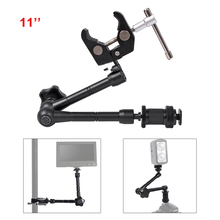 11 inch Verstelbare Magic Gelede Arm Super Clamp voor Montage HDMI Monitor LED Licht LCD Video Camera Flash Camera DSLR