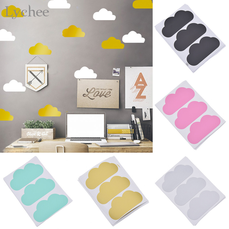 30pcs Cute Cloud Pattern Wall Sticker Removable Home Decoration Baby Bedroom Kids Living Room Wall Decal