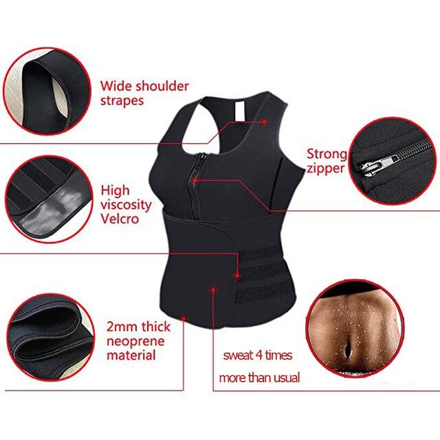 Pregnant woman Neoprene Sauna Slimming Waist Trainer Vest Postpartum Corset Hot Shaperwear Adjustable Sweat Belt Body Shaper 3
