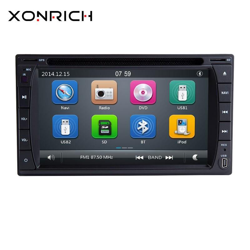 2 din voiture lecteur DVD multimédia radio cassette enregistreur récepteur Auto Radio GPS stéréo carte gratuite caméra RDS 178*100