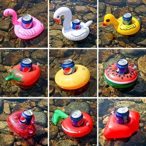 Mini soporte inflable para copa de flamenco unicornio, soporte para bebida, piscina flotante para baño, juguete de piscina, decoración para fiesta, Bar, anillo de natación