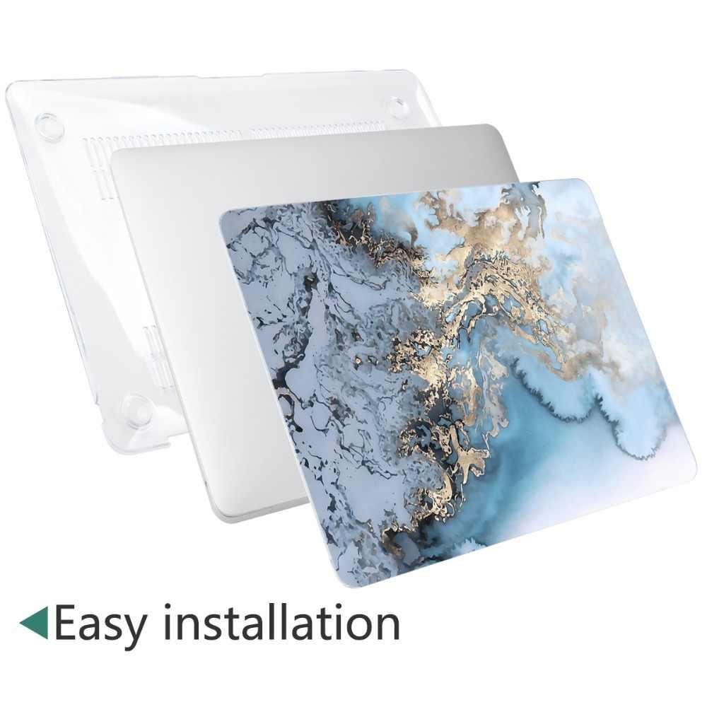 4 en 1 ensemble marbre étui pour Apple MacBook Pro Air 13 15 16 pouces barre tactile 2019 A2141 A2159 A1932 A1706 A1990 couverture rigide + cadeau gratuit