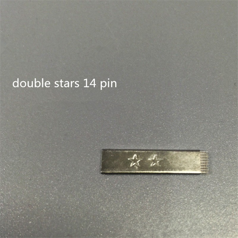 Pcs/Lot Mixed Eyebrow Tattoo Needle Blade PCD Microblading 12 Or 14 Sloped Needles For 3D Embroidery Manual Tattoo Pen Machine 19