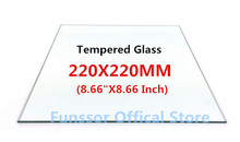 A Funssor Smartrap Reprap 3D Printer 220x220 mm Build Plate tempered glass 3MM thickness(China)