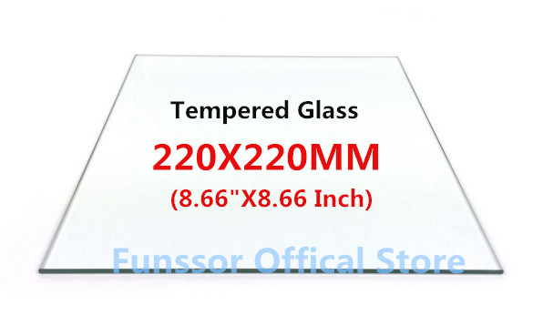 Funssor Smartrap Reprap 3D Printer 220x220 mm Build Plate tempered glass 3MM thickness