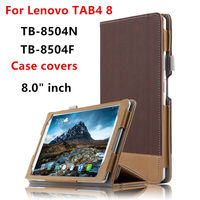 Case For Lenovo TAB 4 8 Protective Smart Cover Leather Tablet PC Tab4 8 TB 8504F