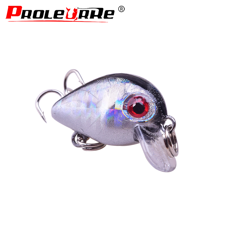 30mm 1.6g Crankbait Fishing Lure Artificial Hard Crank Bait Bass Fishing Wobblers Topwater Laser Minnow Lures Fishing Tackle