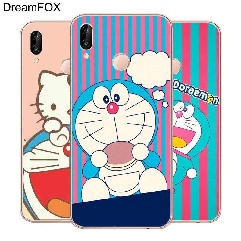 DREAMFOX L429 Fashion Cute Doraemon Soft TPU Silicone Case Cover For Huawei Honor 6A 6C 7X 9 10 P20 Lite Pro P Smart