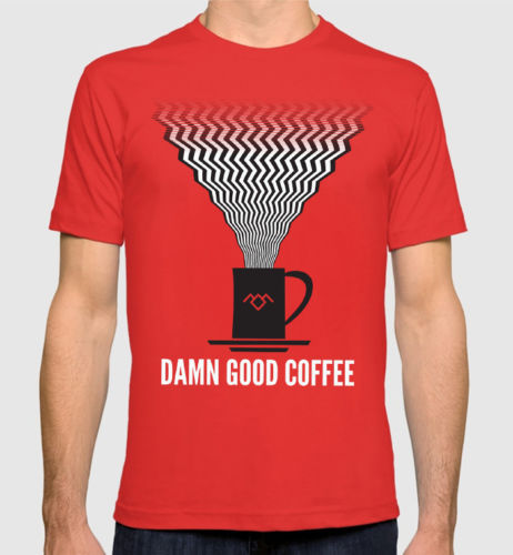 Gildan Twin Peaks Damn Good Coffee T-Shirt David Lynch Mens Womens Tee