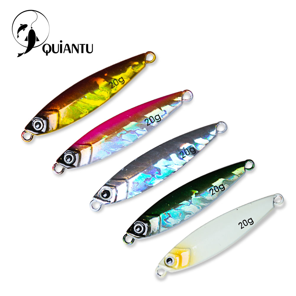 5 Pcs/lot Metal Jigging Spoon 15g/20g 3D Laser Printing Artificial Bait Boat Fishing Lures Jig Super Hard Fishing Fish Lead Bait bammax fishing lure 1 box metal iron hard bait sequins shore jigging spoon lures fishing connector pin fishing accessories pesca