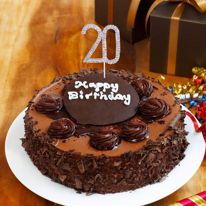 Número 9 Cake Topper Brillo Rojo Decoración De Cumpleaños Presente Idea de Regalo Vela