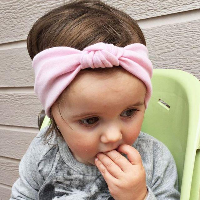 1PC Baby Cotton Tie Knot Headband Children Girls Elastic Hair Band Toddler Turban  Headband Kids Girls Headwear bandeau bebe kt20 0f5019a0aa6