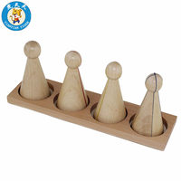 Baby Toys Montessori Material Wooden Early Education Math Toys Larger Fraction Stittles