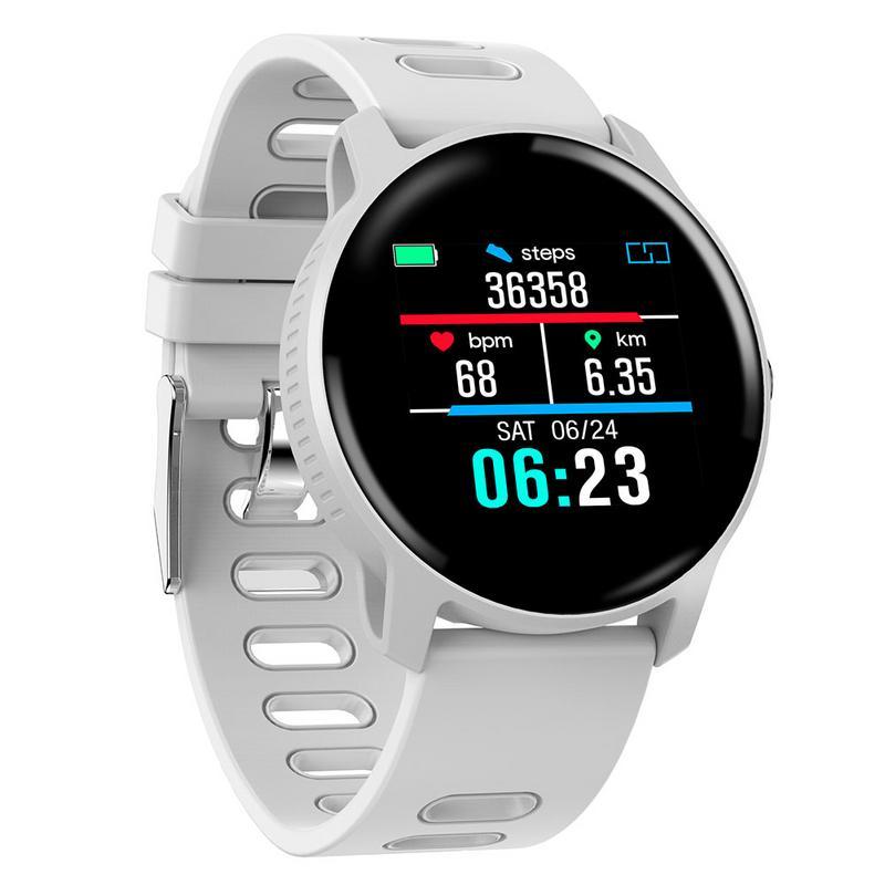 Hommes montre intelligente S08 SENBONO IP68 Fitness Tracker moniteur de fréquence cardiaque podomètre Smartwatch pour Android IOS blanc étanche téléphone