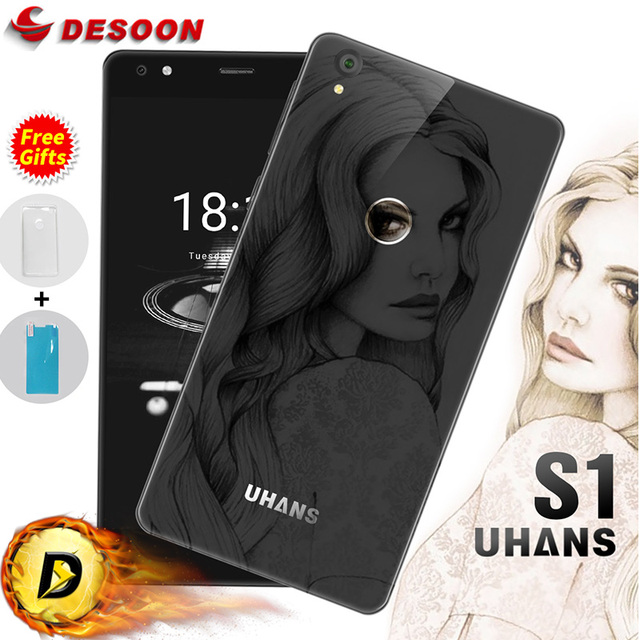 Free Gifts Original Uhans S1 Mobile Phone 5.0inch Android 6.1 4G FDD-LTE Octa Core MTK6753 1.3GHz 13MP Camera 3G+32G Uhans S1