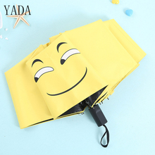 YADA Custom Fold Anti-UV Umbrella Funny Smiley Face Creative Windproof Reinforced Sunscreen Parasol Waterproof YS421
