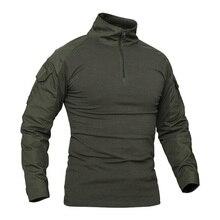 Combat Shirt Kryptek Multicam Black Airsoft Ranger Green Military Men Paintball Long-Sleeve