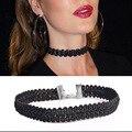 Boemia verão Mais Recente moda jóias acessórios Onda de Renda Preta Gargantilha colar para amantes casal N172