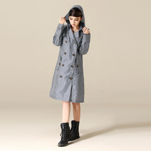 Fashion British Plaid Thin Portable Tour Long Trench Raincoats women's Waterproof Raincoat impermiable casaco feminino japan fashion womens thin portable tour long trench raincoats burbe rry girls waterproof clothes floral outdoor rain jacket page