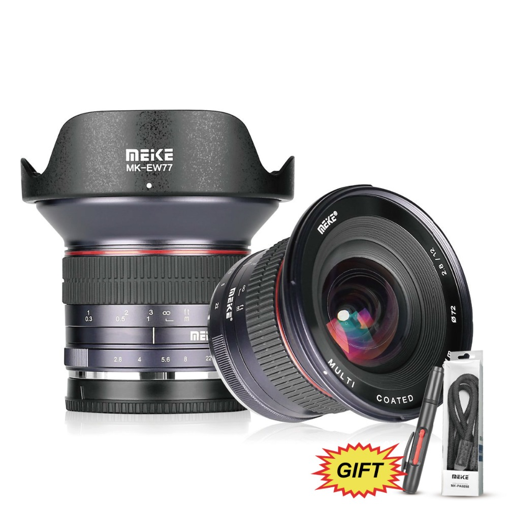 Meike 12mm f/2.8 Ultra Grand Angle Manuel Objectif Fixe avec Amovible Capot pour MFT Micro Quatre Tiers panasonic/Olympus Mirrorless