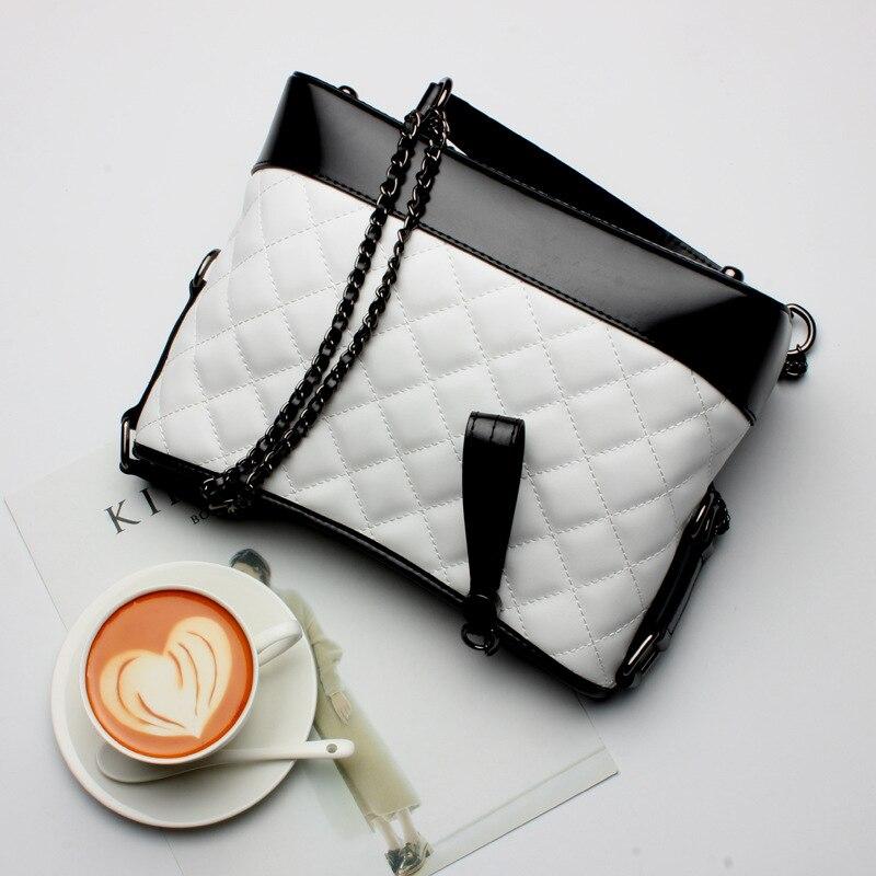 L7007 Wholesale 2017 Women Leather Bag Female Lattice Chain Leather Satchel Shoulder BagL7007 Wholesale 2017 Women Leather Bag Female Lattice Chain Leather Satchel Shoulder Bag