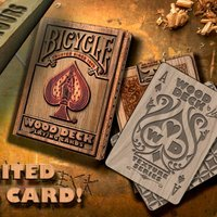 Bicycle Wood Deck Rider Back Playing Cards Poker Size USPCC Limited Edition Deck Magic Cards Magic Tricks Props for Magician