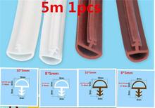 5M rubber sealing strips crash soundproof door thong strip wooden door/ window sealed slot type hard foot easy to instal