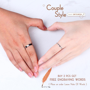 Image 4 - ORSA JEWELS 925 srebro mężczyźni kobiety pierścionki klasyczny prosty styl zwykły pierścień rocznica para obrączka biżuteria SR73