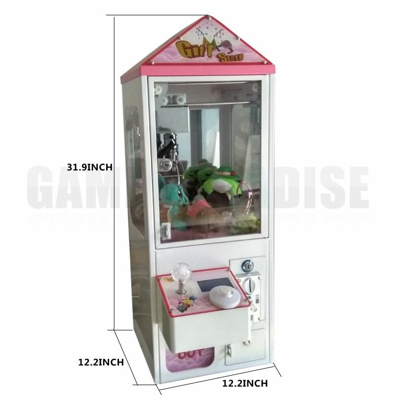 Bartop mini máquina do guindaste da garra da arcada máquina do coletor do brinquedo dos doces com a moeda operada para a venda garantia de 5 anos
