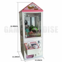 bartop Mini Arcade Claw Crane Machine candy toy catcher machine with coin operated For Sale 5 year warranty