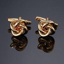 DY new High grade brand Brass material font b Gold b font roundles twist Cufflinks Men