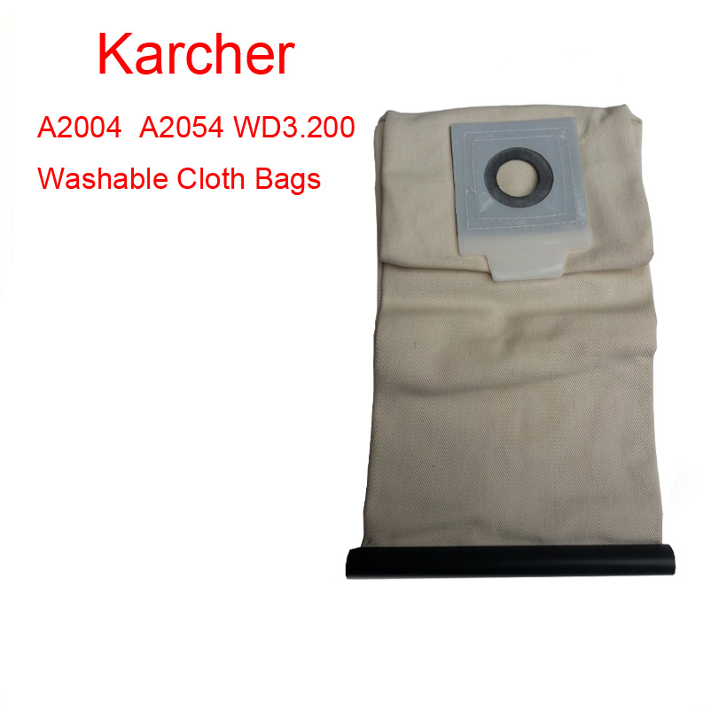 Karcher vacuum cleaner A2054 WD3.200 Washable Cloth Bags vacuum cleaner bag Reuse Pattern Free Shipping karcher vacuum cleaner bag washable cloth bags for bv5 1 reuse pattern parts free shipping