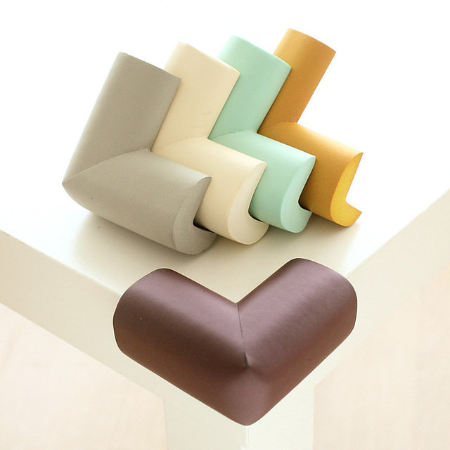 4 unids/lote 5,5x5,5 cm Protector de esquina de mesa suave Protector de esquina de borde de seguridad para niños protección infantil cinta cojín