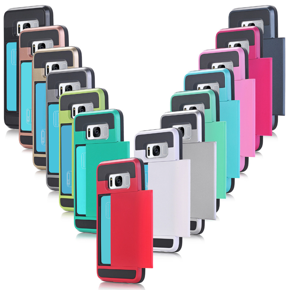 JSPYL Credit Card Slot Armor Case For Samsung Galaxy S8 Plus S6 S7 Edge Note 5 A3 A5 A7 J3 J5 J7 2016 2017 Note 8 S5 Fundas Capa