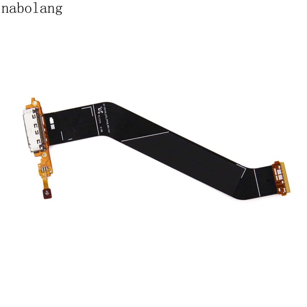 Nabolang Port Flex Cable Replacement parts for Samsung P5100 For samsung Galaxy Tab 2 P5100 USB Charger Dock Connector Charging repair parts usb charging connector port module flex cable for ipad mini black