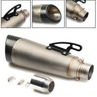 Универсальный 36 51 мм изменения мотоцикл Выхлопная труба Мотокросс глушитель выхлопных газов для Yamaha YZF R3 R6 R125 MT03 MT 03 XSR900 MT07