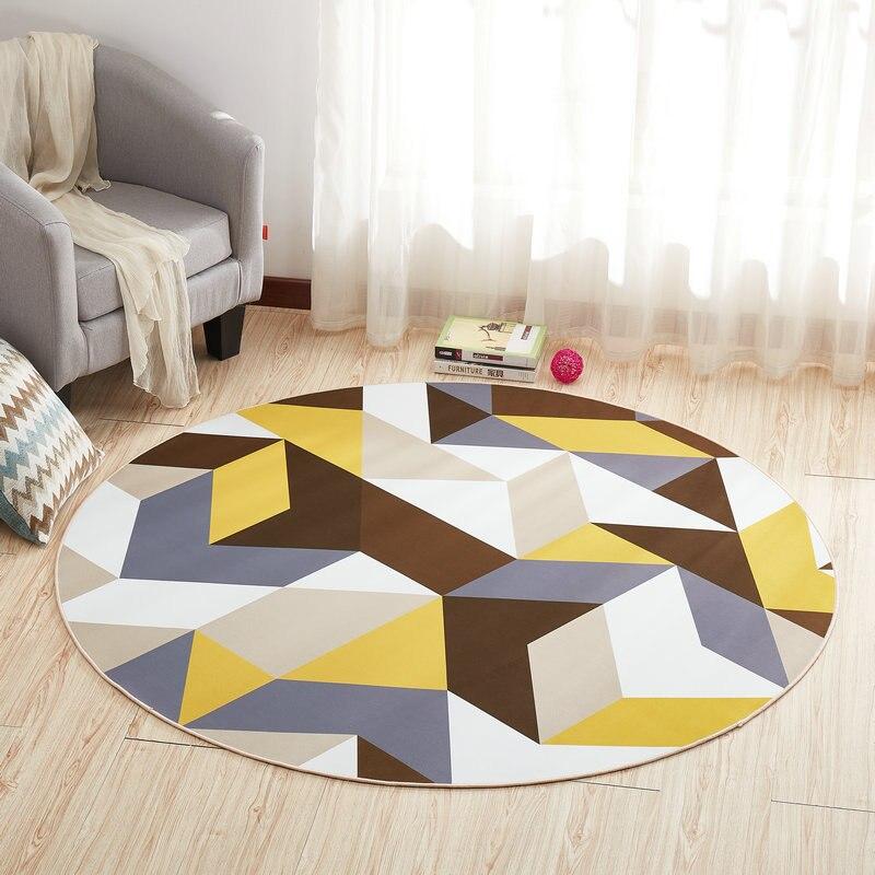Круглый ковер, коврик для двери, современные ковры для гостиной, ковер для спальни, Противоскользящий коврик для пола, домашний текстиль - Цвет: Color B