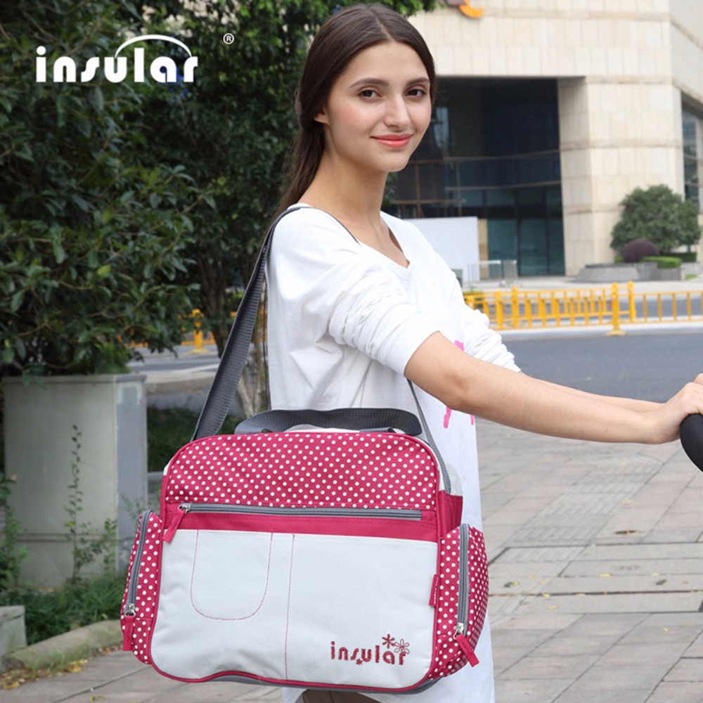 Maternity Messenger Bags Red Large Capacity Baby Diaper Bags Baby Bolsa Maternidade Baby Bags For Mum Baby Nappy Bags Mummy