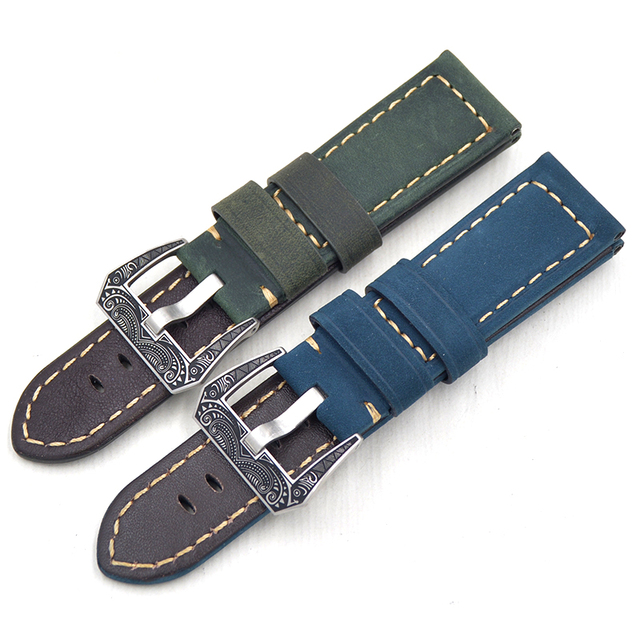 ¡Nuevos productos de 2019! cinturón de cuero genuino italiano aplicable para reloj Pam pulsera de 22 24mm Correa hombre pulsera de hebilla de lujo