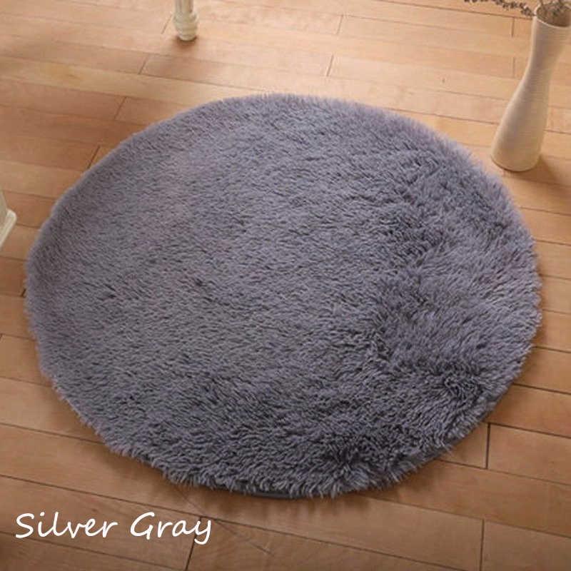 NK украшение около 40 см, домашний декор, коврик для спальни, дверной пол, коврик, пушистый круглый Поролоновый ковер, Нескользящие Коврики для душа