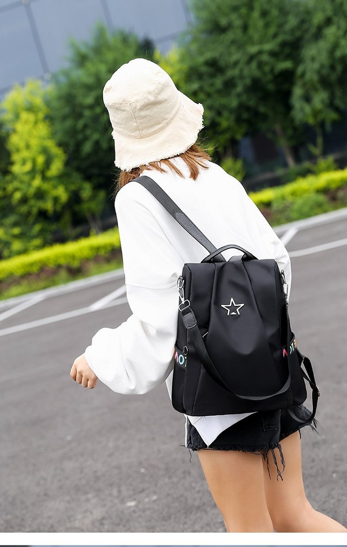 Image 5 - MIYAHOUSE Solid Color Women Backpack Back Hidden Zipper Design Female Rucksack Safe Travel For Lady Travel Bag With Bear Pendant-in Backpacks from Luggage & Bags