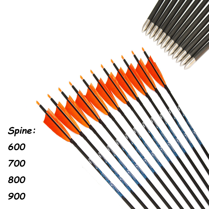"12Pcs SP600 900 30'' ID4.2mm Carbon Arrows 5"" Turkey"