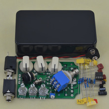 Efectos de guitarra pedal de Efectos de guitarra Pedal Overdrive uso caja de Accesorios de la Guitarra Eléctrica negro