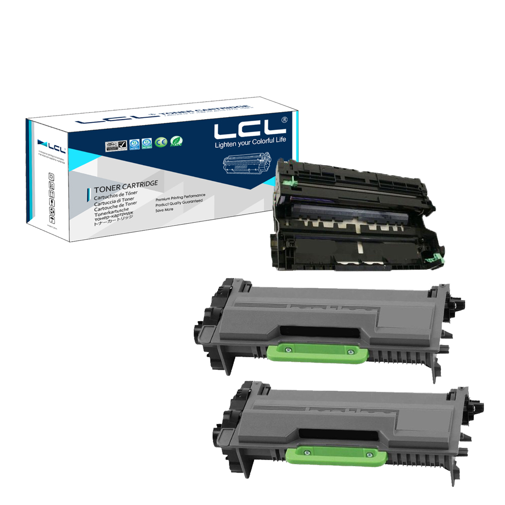 LCL TN850 TN820 DR820 (3-Pack Black) Toner Cartridge Compatible for Brother HL-L5000D/HL-L5100DN/HL-L5200DW/HL-L5200DWT lcl 150 xl 150xl 3 pack black ink cartridge compatible for lexmark s315 s415 s515 pro715 pro915