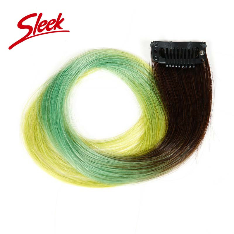Sleek Ombre Clip-in Human Hair Extension,1pc Only Blue&Green Ombre Brazilian Hair Aliexpress India Human Hair