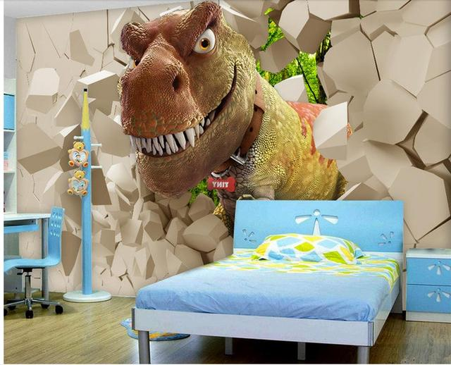 Dieren Behang Kinderkamer : D behang voor kamer dinosaurus kinderkamer cartoon dier