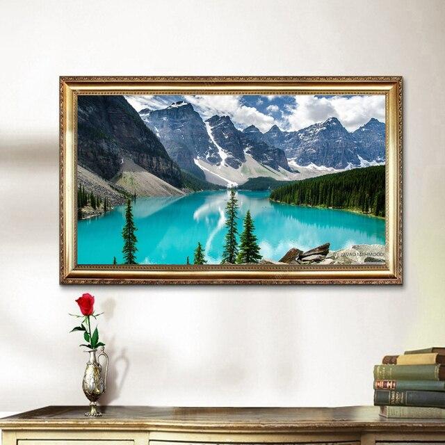 Colinas agua limpia paisaje sin marco el spray pinturas moderno Lino ...