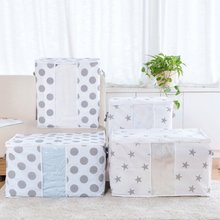 Non-Woven Family Divider Organiser Quilt Bag Holder Organizer Save Space Organizador Bed Under Closet Storage Box Clothes(China)