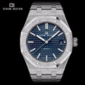 DIDUN Mens Luxury Watches Full Steel Brand Quartz watches Men Dress Business Watch Luminous Wristwatches Water resistant